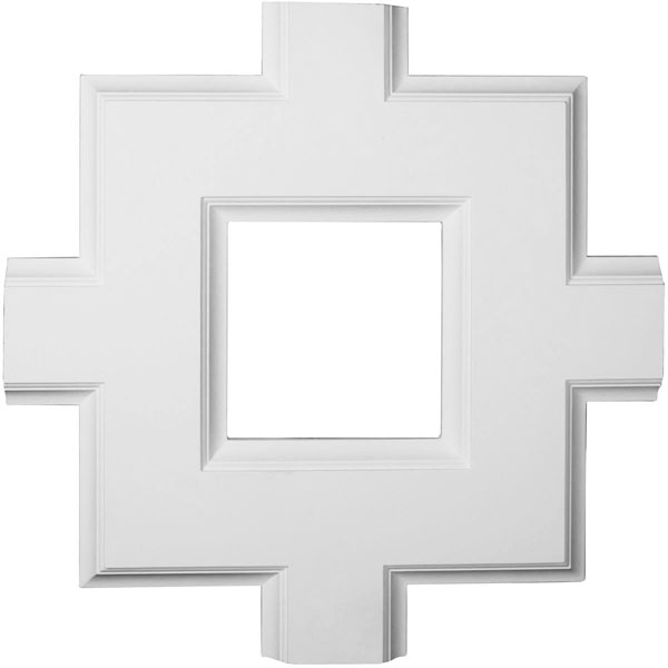 "36""W x 2""P x 36""L Inner Square Intersection for 8"" Traditional Coffered Ceiling System"