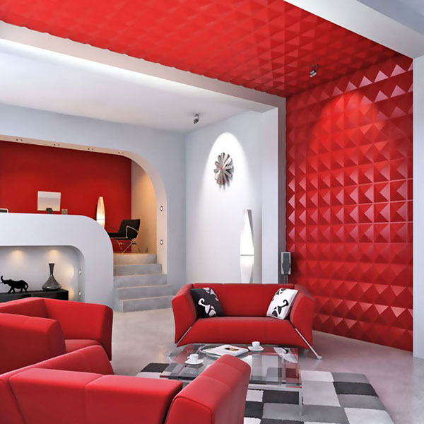 WP20X20RIWH 3D Wall Panels