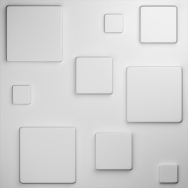 "19 5/8""W x 19 5/8""H Devon EnduraWall Decorative 3D Wall Panel, White"