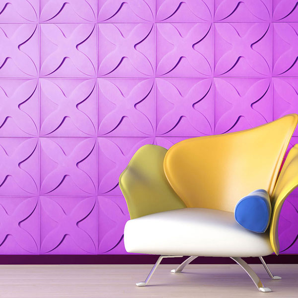 WP20X20AUWH Three Dimensional Wall Panels