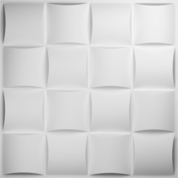 "19 5/8""W x 19 5/8""H Baile EnduraWall Decorative 3D Wall Panel, White"