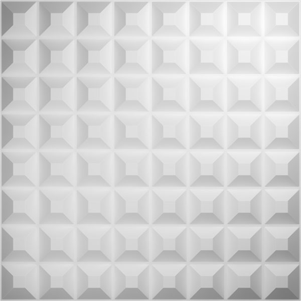"19 5/8""W x 19 5/8""H Bradford EnduraWall Decorative 3D Wall Panel, White"