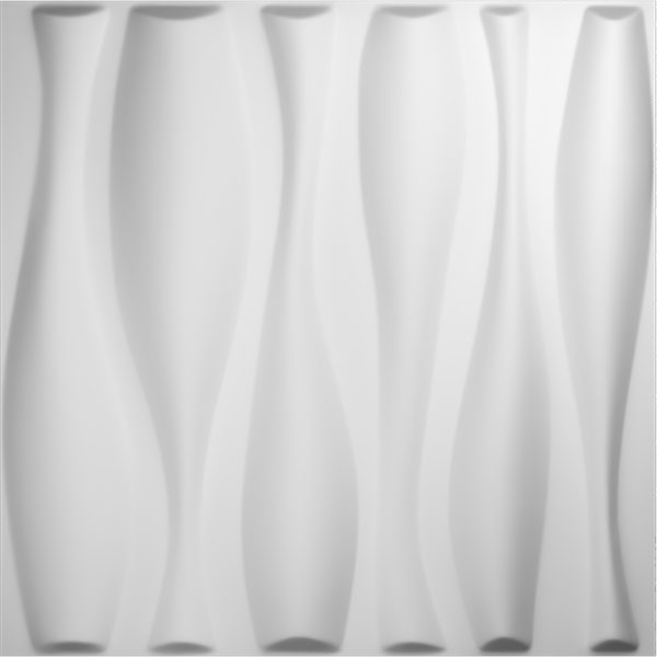 "19 5/8""W x 19 5/8""H Fairfax EnduraWall Decorative 3D Wall Panel, White"
