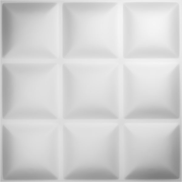 "19 5/8""W x 19 5/8""H Classic EnduraWall Decorative 3D Wall Panel, White"