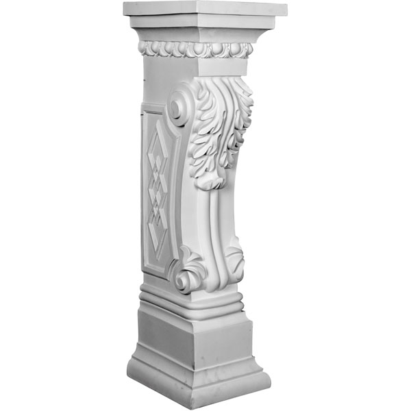 "9 7/8""W x 11 1/8""D x 34 5/8""H Scroll Leaf Surround"