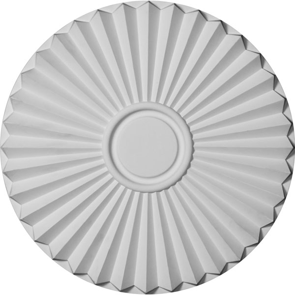 """19 3/4""""OD x 1 3/8""""P Shakuras Ceiling Medallion (For Canopies up to 5"""")"""
