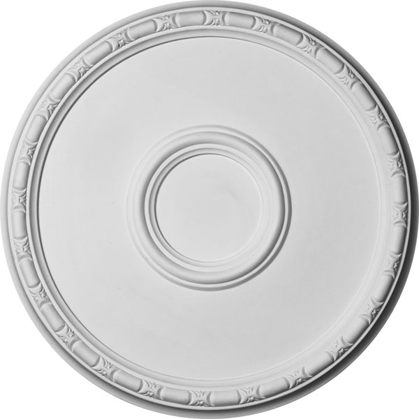 "19 3/4""OD x 1 3/8""P Odessa Bead & Barrel Ceiling Medallion (Fits Canopies up to 5"")"