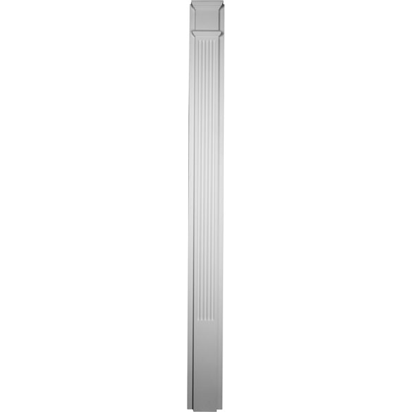 "7 7/8""W x 90 1/2""H x 2 1/2""P with 18"" Attached Plinth, Fluted Pilaster (each)"