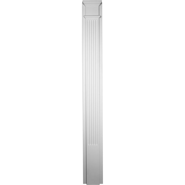 "10""W x 90 1/2""H x 2 1/2""P  with 18"" Attached Plinth, Fluted Pilaster (each)"