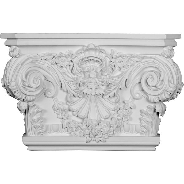 "20 7/8""W x 13 1/2""H x 5 1/2""P Rose Capital (Fits Pilasters up to 15 1/4""W x 2 3/4""D)"