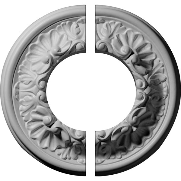 "7 1/2""OD x 3 1/2""ID x 1 1/8""P Odessa Ceiling Medallion, Two Piece (Fits Canopies up to 3 1/2"")"