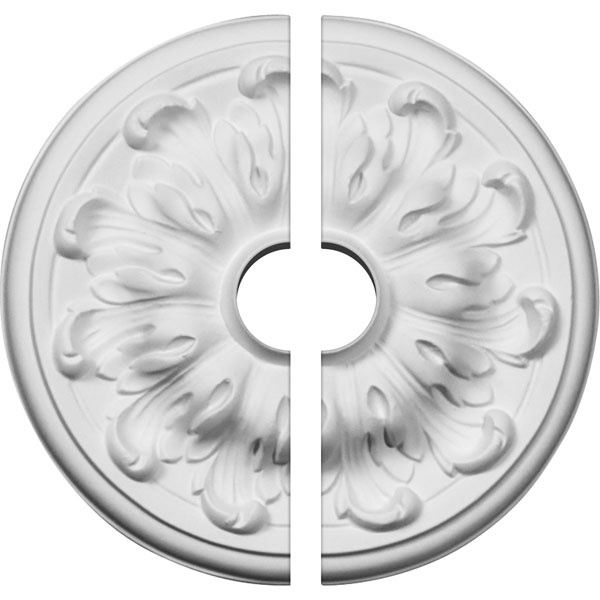 "7 7/8""OD x 1 1/2""ID x 1/4""P Millin Ceiling Medallion, Two Piece (Fits Canopies up to 2"")"