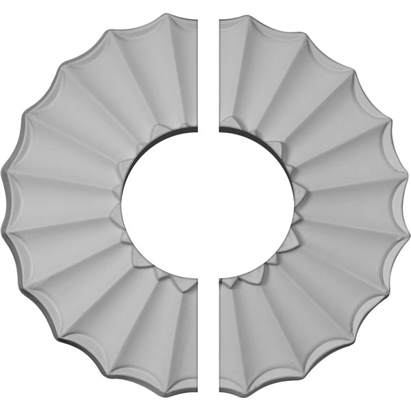 "9""OD x 3 1/2""ID x 1 3/8""P Shakuras Ceiling Medallion, Two Piece (Fits Canopies up to 3 1/2"")"