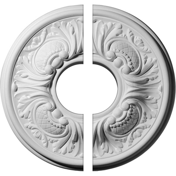 "11 3/4""OD x 3 1/2""ID x 1 1/4""P Wakefield Ceiling Medallion, Two Piece (Fits Canopies up to 3 5/8"")"