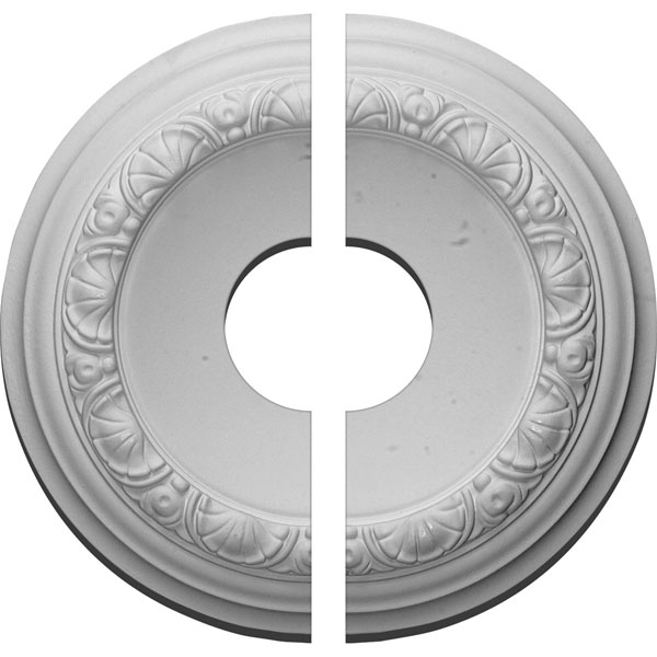 "12 1/2""OD x 3 1/2""ID x 1 1/2""P Carlsbad Ceiling Medallion, Two Piece (Fits Canopies up to 7 7/8"")"