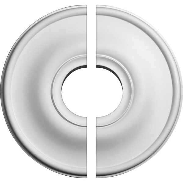 "11 3/4""OD x 3 1/2""ID x 3/8""P Jefferson Ceiling Medallion, Two Piece (Fits Canopies up to 3 1/2"")"