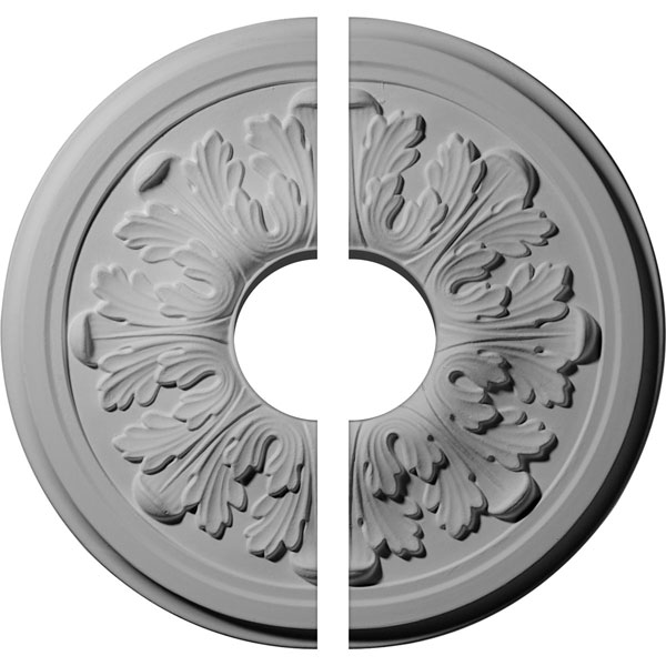 "12 3/4""OD x 3 1/2""ID x 7/8""P Legacy Acanthus Ceiling Medallion, Two Piece (Fits Canopies up to 3 1/2"")"