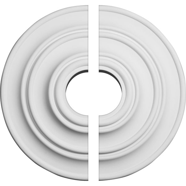 "13 1/4""OD x 3 1/2""ID x 1/2""P Classic Ceiling Medallion, Two Piece (Fits Canopies up to 4 1/8"")"