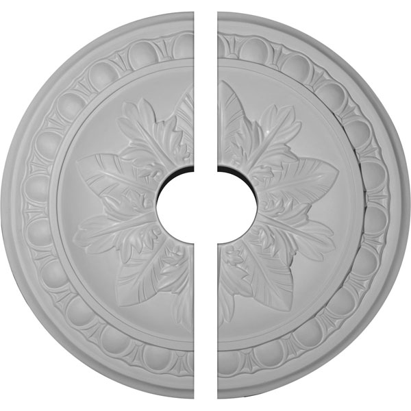 "17 3/4""OD x 3 1/2""ID x 1 1/8""P Exeter Ceiling Medallion, Two Piece (Fits Canopies up to 3 1/2"")"