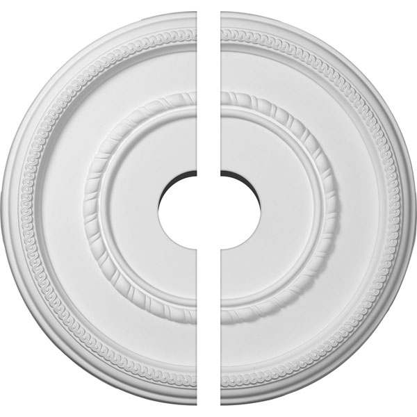 "17 3/8""OD x 3 1/2""ID x 1 1/8""P Federal Roped Large Ceiling Medallion, Two Piece (Fits Canopies up to 7 3/4"")"
