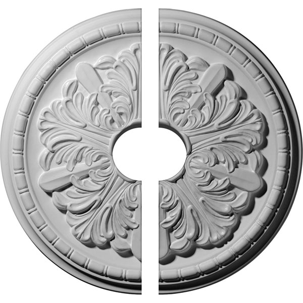 "17 1/8""OD x 3 1/2""ID x 1 1/2""P Washington Ceiling Medallion, Two Piece (Fits Canopies up to 3 1/2"")"