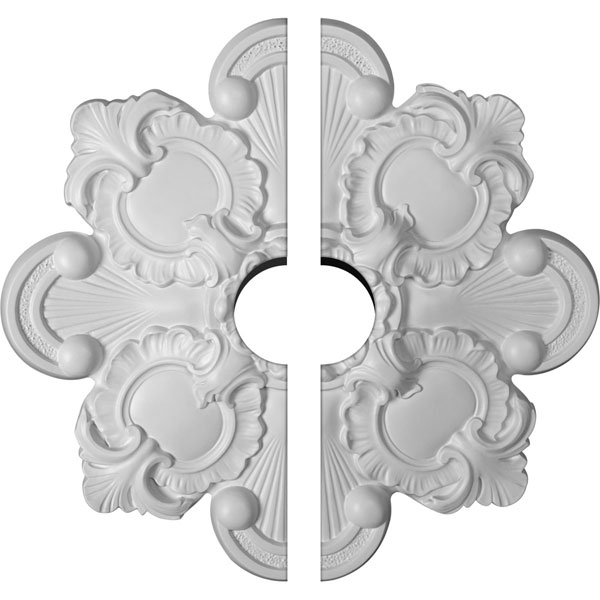 "18 1/8""OD x 3 1/2""ID x 1 1/4""P Katheryn Ceiling Medallion, Two Piece (Fits Canopies up to 3 1/2"")"