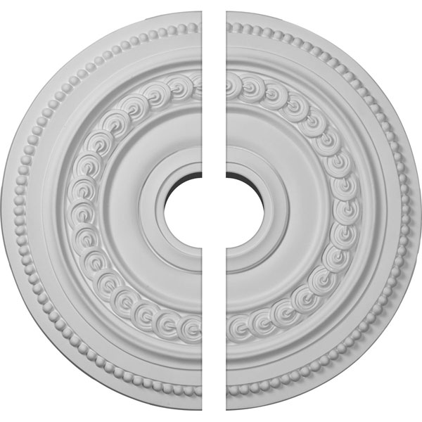 "18""OD x 3 1/2""ID x 1 1/4""P Oldham Ceiling Medallion, Two Piece (Fits Canopies up to 8 5/8"")"