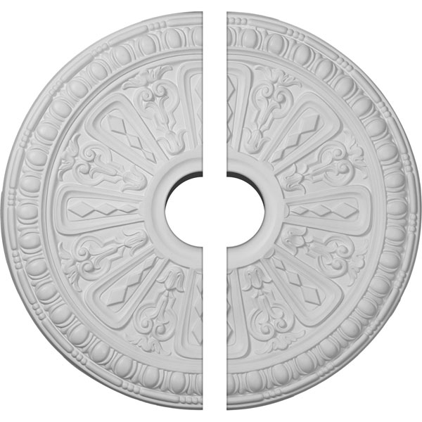 "18""OD x 3 1/2""ID x 1 1/4""P Raymond Ceiling Medallion, Two Piece (Fits Canopies up to 5 3/8"")"