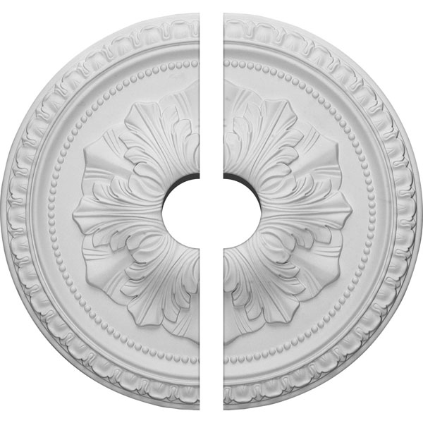 "18""OD x 3 1/2""ID x 1 3/8""P Richmond Ceiling Medallion, Two Piece (Fits Canopies up to 3 1/2"")"