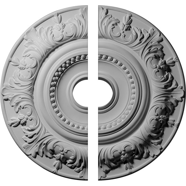 """20 7/8""""OD x 3 1/2""""ID x 1 1/4""""P Biddix Ceiling Medallion, Two Piece (Fits Canopies up to 7 1/2"""")"""