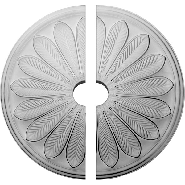 "25 1/2""OD x 3 1/2""ID x 5 1/2""P Brontes Ceiling Medallion, Two Piece (Fits Canopies up to 3 5/8"")"