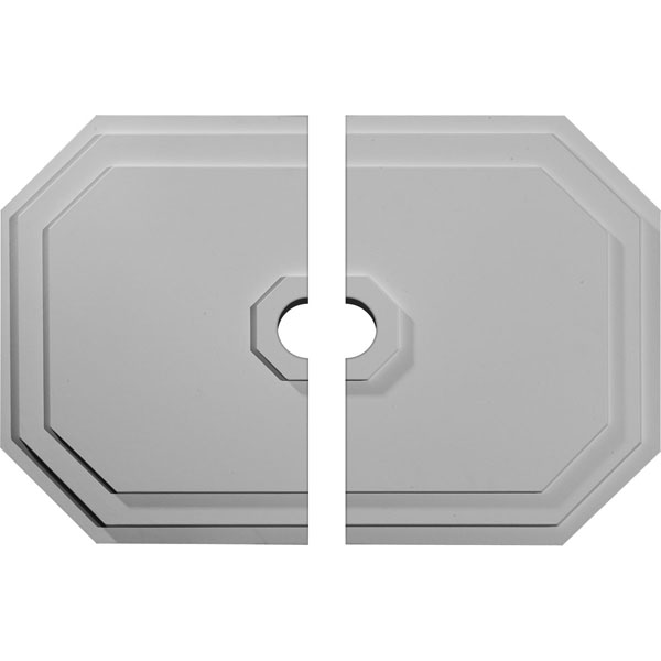 "25 1/4""W x 17 1/4""H x 3 1/2""ID x 1 3/4""P Felix Ceiling Medallion, Two Piece (Fits Canopies up to 3 1/2"")"