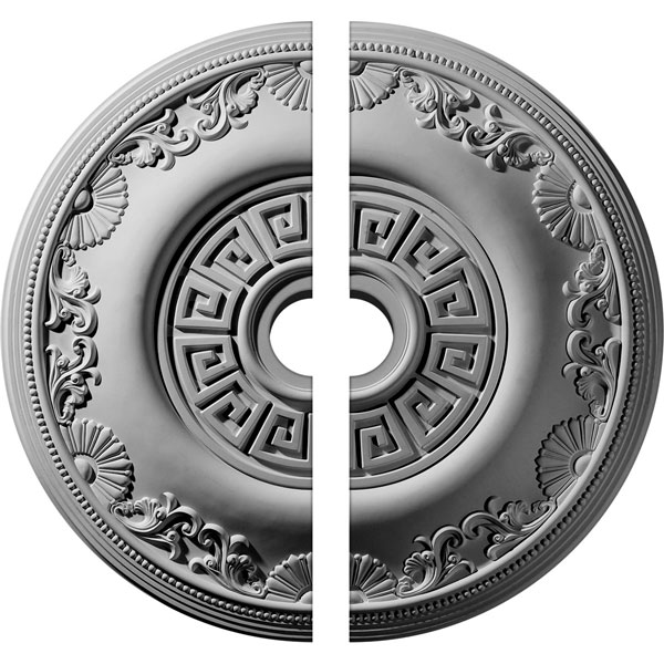 """25 7/8""""OD x 3 1/2""""ID x 2 1/4""""P Nestor Ceiling Medallion, Two Piece (Fits Canopies up to 5"""")"""