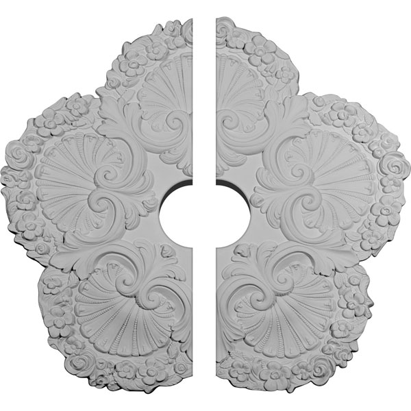 "25 5/8""OD x 4 1/2""ID x 1""P Shell Ceiling Medallion, Two Piece (Fits Canopies up to 4 1/2"")"