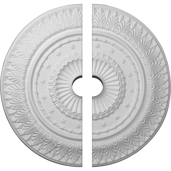 "26 5/8""OD x 3 1/2""ID x 2 1/4""P Christopher Ceiling Medallion, Two Piece (Fits Canopies up to 3 1/2"")"