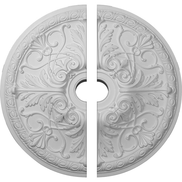 "26""OD x 3 1/2""ID x 3""P Tristan Ceiling Medallion, Two Piece (Fits Canopies up to 5 1/2"")"