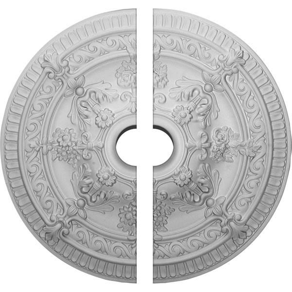 "26""OD x 4""ID x 3""P Vincent Ceiling Medallion, Two Piece (Fits Canopies up to 6"")"