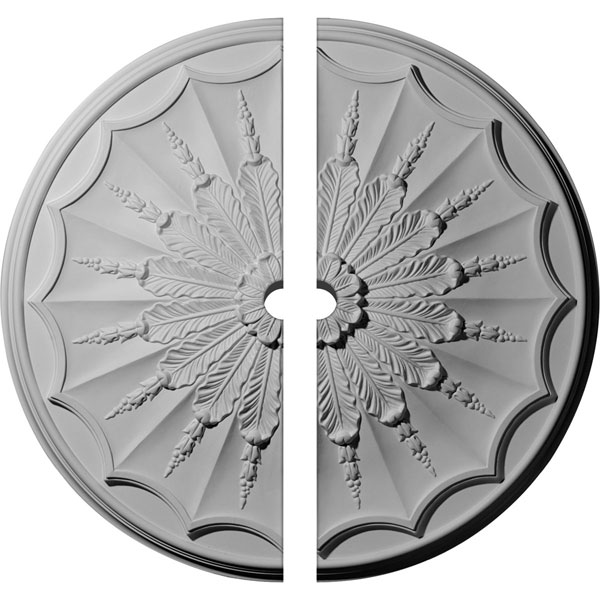 "27 1/8""OD x 2""ID x 2 5/8""P Artis Ceiling Medallion, Two Piece (Fits Canopies up to 2"")"