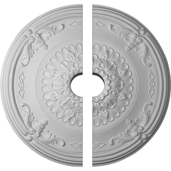 "26 1/4""OD x 4""ID x 3 1/4""P Athens Ceiling Medallion, Two Piece (Fits Canopies up to 4"")"