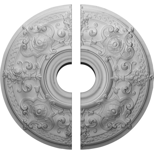 "28 1/8""OD x 6""ID x 1 3/4""P Oslo Ceiling Medallion, Two Piece (Fits Canopies up to 10 1/2"")"