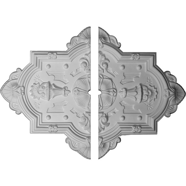 "29 1/8""H x 38 1/8""W x 1 1/2""ID x 1 3/4""P Cathedral Ceiling Medallion, Two Piece (Fits Canopies up to 1 1/2"")"