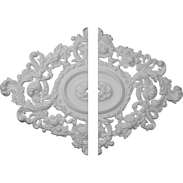 "22 1/2""W x 30 3/8""H x 1""ID x 1 1/2""P Katheryn Ceiling Medallion, Two Piece (Fits Canopies up to 1"")"