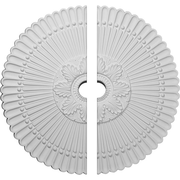 """30""""OD x 3 1/2""""ID x 3""""P Nexus Ceiling Medallion, Two Piece (Fits Canopies up to 2 3/4"""")"""