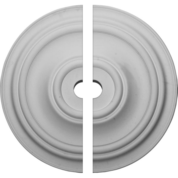 """31 1/2""""OD x 3 1/2""""ID x 2 1/2""""P Traditional Ceiling Medallion, Two Piece (Fits Canopies up to 8 1/4"""")"""