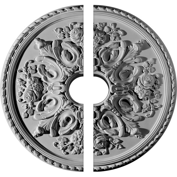 "32 5/8""OD x 6""ID x 2""P Bradford Ceiling Medallion, Two Piece (Fits Canopies up to 6 5/8"")"