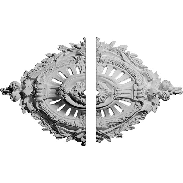 "35 7/8""W x 22 1/2""H x 1""ID x 4 3/8""P Antonio Ceiling Medallion, Two Piece (Fits Canopies up to 1"")"
