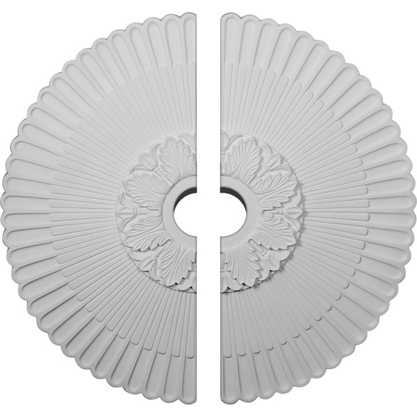 "36 1/4""OD x 4""ID x 1 7/8""P Melonie Ceiling Medallion, Two Piece (Fits Canopies up to 6 1/4"")"