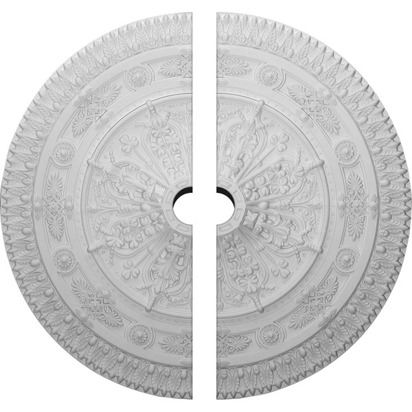 "37 1/2""OD x 5""ID x 3 3/8""P Naple Ceiling Medallion, Two Piece (Fits Canopies up to 3 1/2"")"