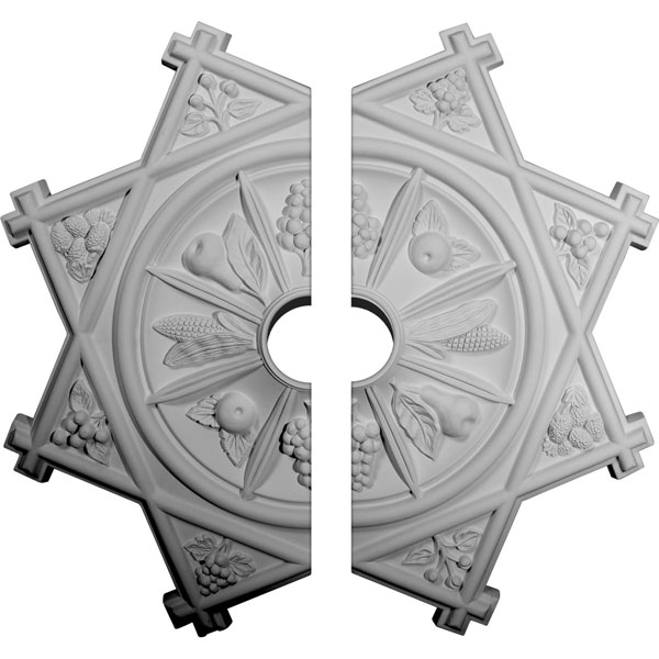 "38 1/4""OD x 6""ID x 1 1/2""P Antilles Ceiling Medallion, Two Piece (Fits Canopies up to 6"")"