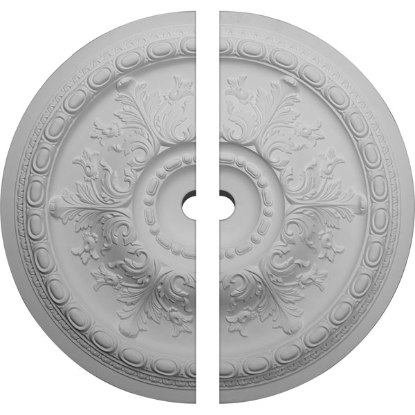 "38 3/8""OD x 3""ID x 2 7/8""P Oslo Ceiling Medallion, Two Piece (Fits Canopies up to 7 5/8"")"